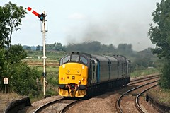 Greater Anglia Class 37s + short set: Reedham, Norfolk