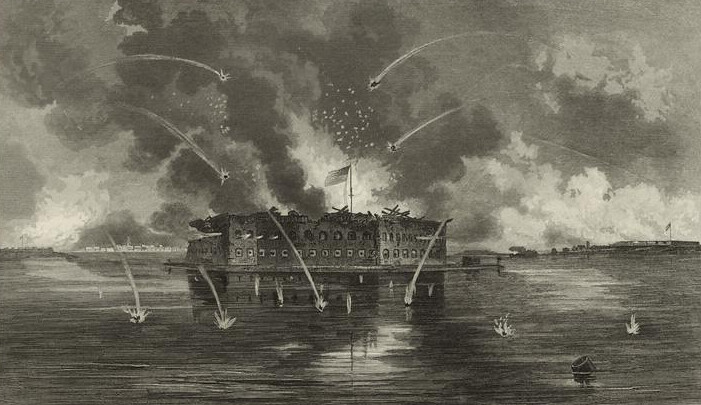 Bombardment of Fort Sumter, by George Edward Perine