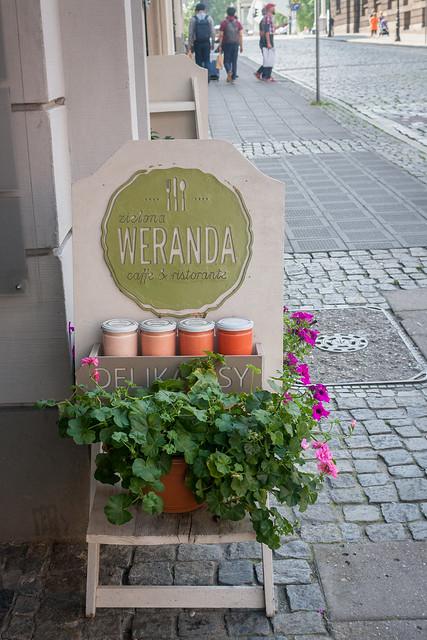 Sign on the street for Weranda