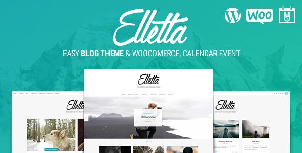 Elletta v1.0.7 - Blog News, Calendar & Shop WordPress Theme