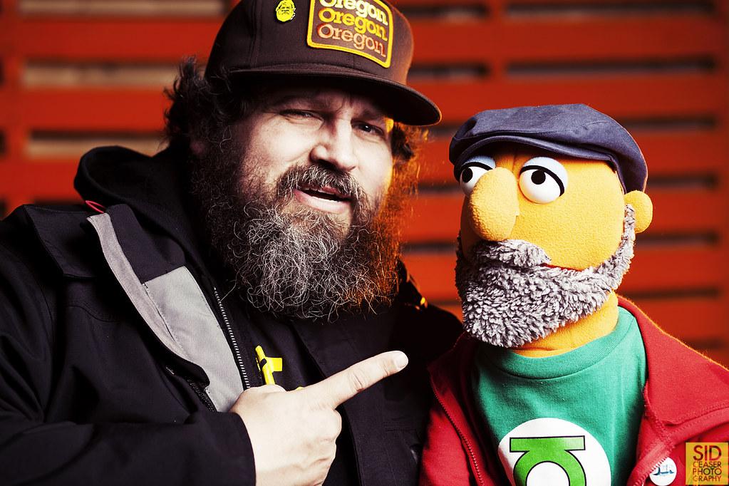 Aaron Draplin & Muppet Sid