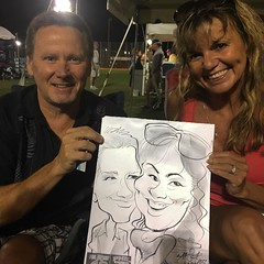 #live caricatures at #philphest #drawing #art #instagramforartists #sketching #illustration