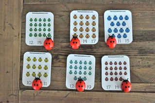 Ladybugs Counting Cards