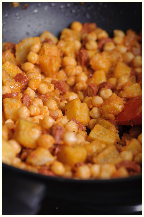 Sweet Potato, Chorizo & Chickpea Hash