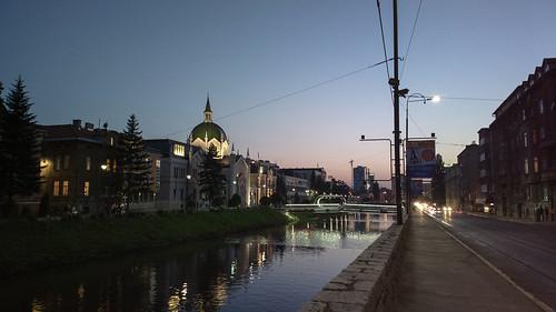 sunset night sarajevo