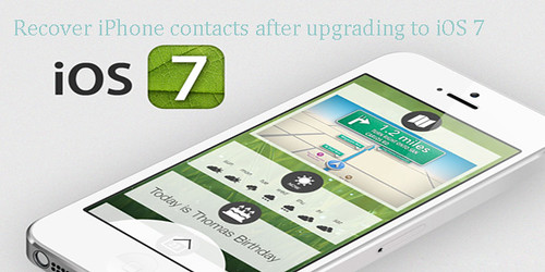 recover iPhone contacts after updating to iOS 7