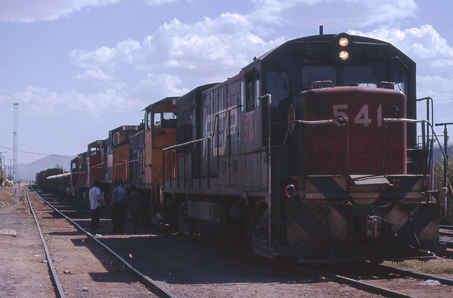Mixed train from Cananea and Nogales