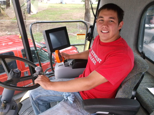 Jose moving the combine