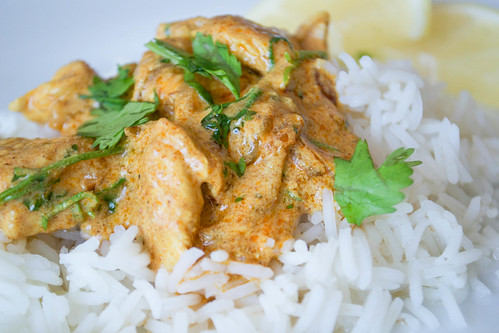 creamy lemon coriander turkey curry