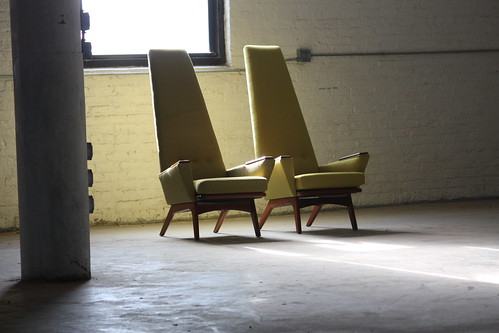 Twin Turbo Adrian Pearsall Mid Century Modern Slim Jim Lounge Chair Model 1865-C for Craft Associates (U.S.A., 1960s)