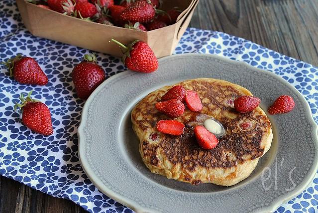 Pancakes aux fraises