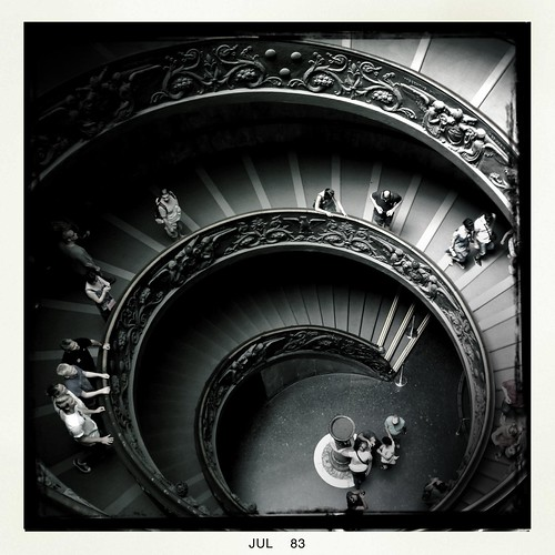 "Stairs at the ""Vatican museum"" by Davide Restivo"