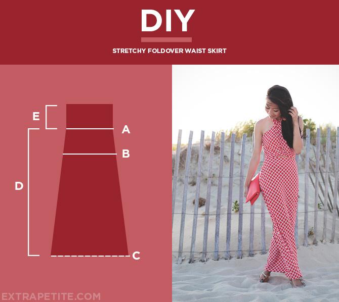 foldover waist skirt DIY