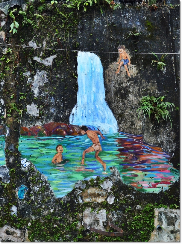 Kids in Waterfall