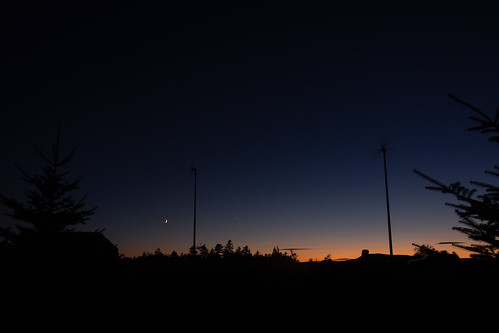 blue sunset sky rumney moon windmill pine unitedstates newhampshire planet astronomy starport em5 714mm