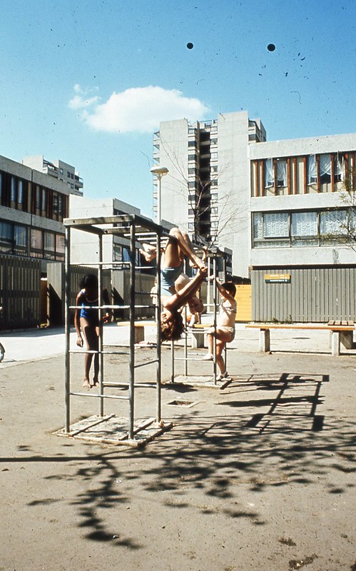 Children playing in Thamesmead