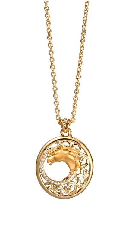 DA13404 010101 Ecuestre pendant in yellow gold and diamonds.jpg