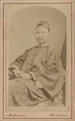 Carte-de-viste portrait of an unidentified Chinese man, 1880