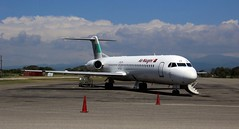 airline, aviation, airliner, airplane, vehicle, fokker 70, business jet, tarmac, jet aircraft, aircraft engine,