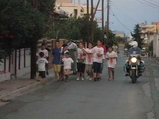 ομάδα εθελοντών αιμοδοτών πολιτιστικού συλλόγου Μαΐστρου 11η Πανελλήνια Λαμπαδηδρομία Εθελοντών Αιμοδοτών