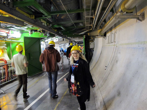 Super-excited to be on the underground tour to see ALICE (A Large Ion Collider Experiment)