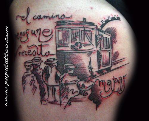 Tatuaje estilo boceto, Pupa Tattoo, Granada by Marzia PUPA Tattoo