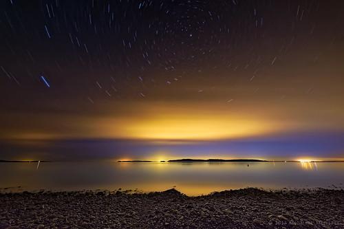ocean nature water night vancouver stars landscape star evening washington nikon pacific astrophotography wa astronomy pugetsound orcasisland sanjuanislands sucia orcas startrails suciaisland circumpolar d700