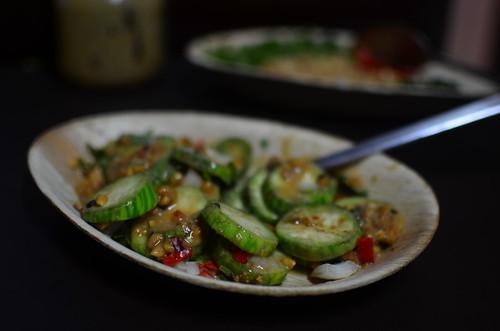Halfway through garden egg salad