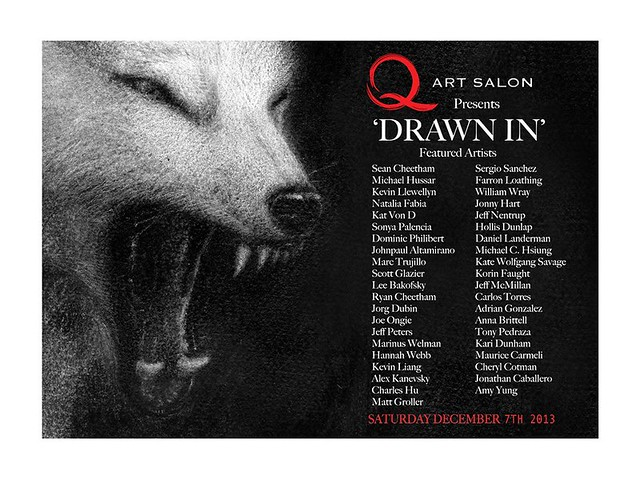 Drawn In Group show opens Saturday, December 7th