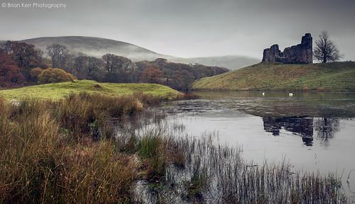 reflections landscape scotland loch morningmist dumfriesandgalloway thornhill mortoncastle