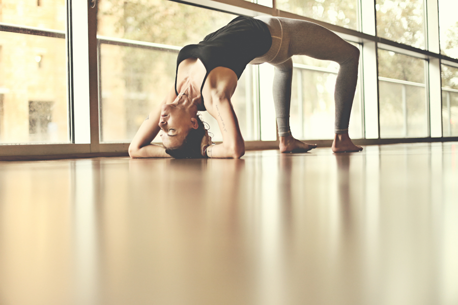 urdhva dhanurasana variation - wheel pose variation