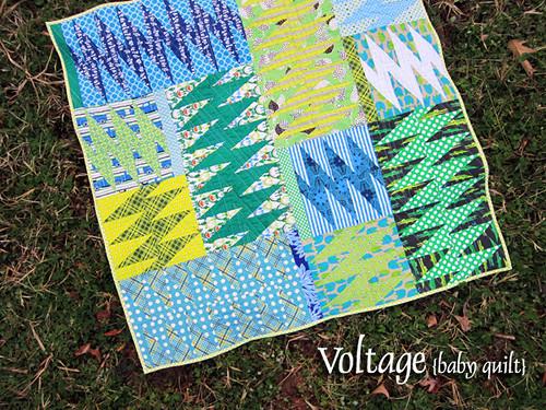Voltage baby quilt