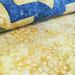 238_Navy Landscape Batik Gold Table Topper_i