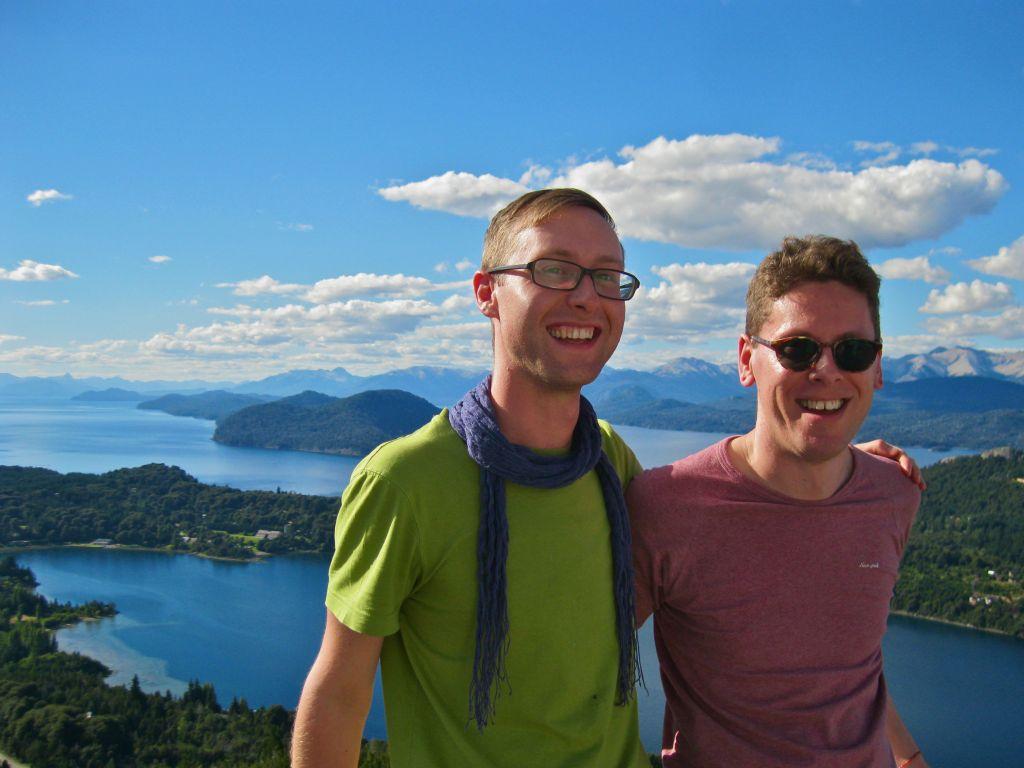 Sam and Zab in Bariloche Argentina