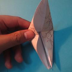 วิธีการพับกระดาษเป็นดาวสี่แฉก 013