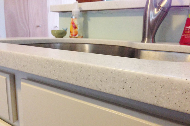 LG HI-MACS countertops with undermount stainless steel sink