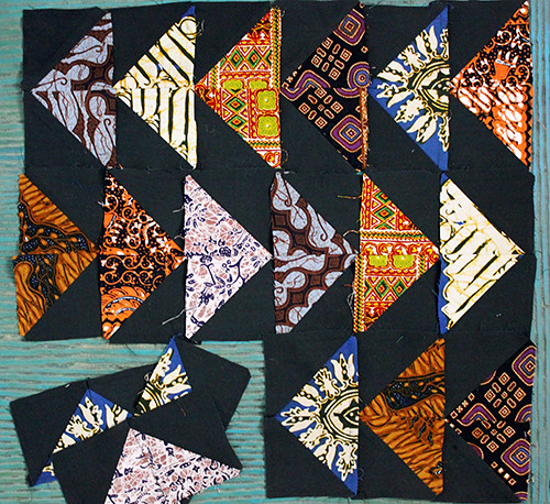 abandoned quilt blocks circa 1998