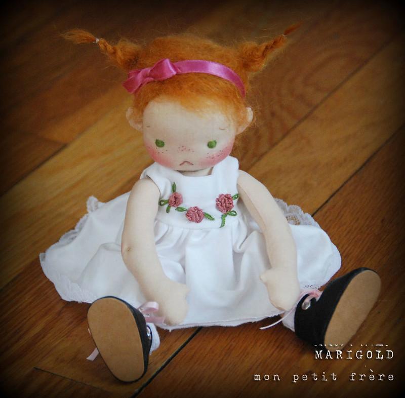 "Marigold- an 8.5"" Petite Fleur style doll by Mon Petit Frère"