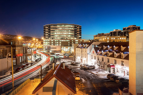 road lighting street city longexposure winter snow canada building architecture night newfoundland twilight nikon downtown cityscape harbour stjohns clear bluehour nfld nightfall atlanticcanada lighttrail d600 harbourdrive newfoundlandandlabrador downtownstjohns nikond600
