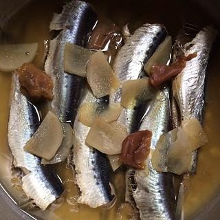 そして、鰯の梅生姜煮出来上がり。 #dinner
