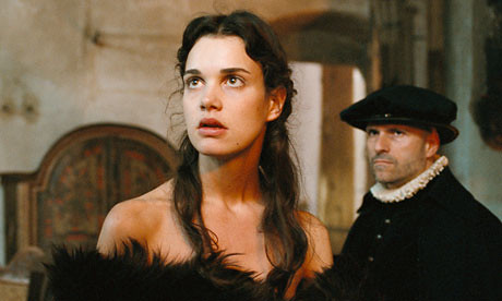 A shot from Mary Queen of Scots, featuring the young queen played by Camille Rutherford looking rather shocked.