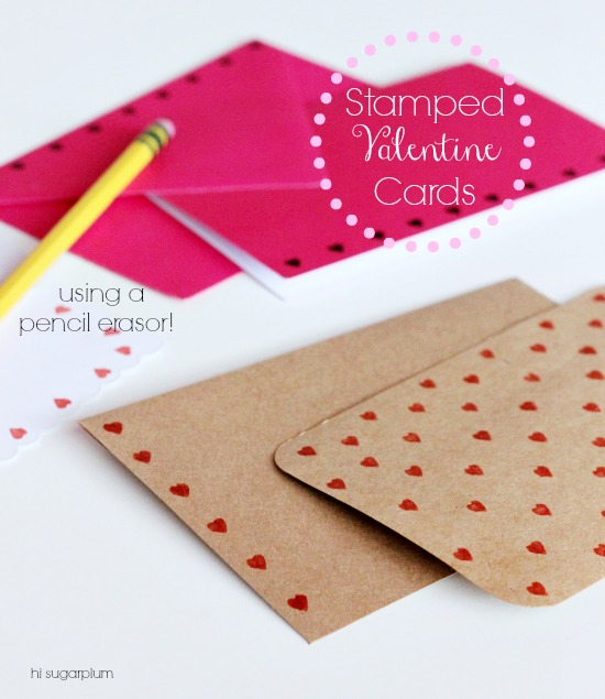 Hi Sugarplum | Erasor Stamped Cards