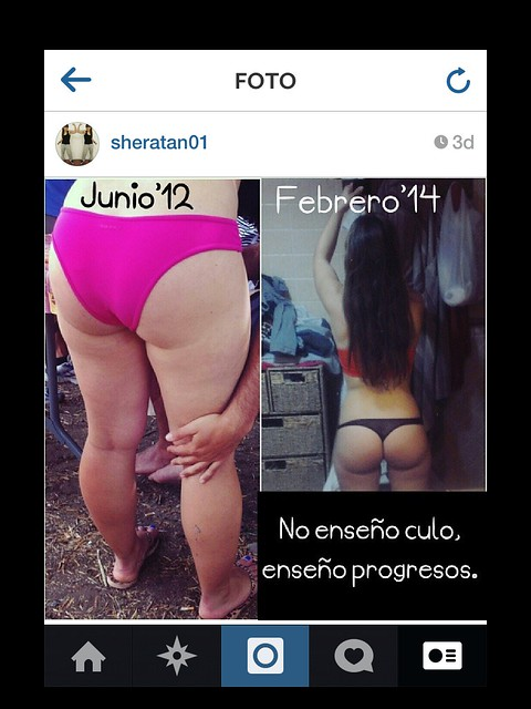 chicas fitness before after