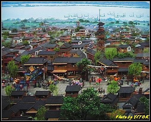 杭州 吳山天風景區 - 057 (城隍閣 內的南宋時期的杭州風情軟木立體畫))