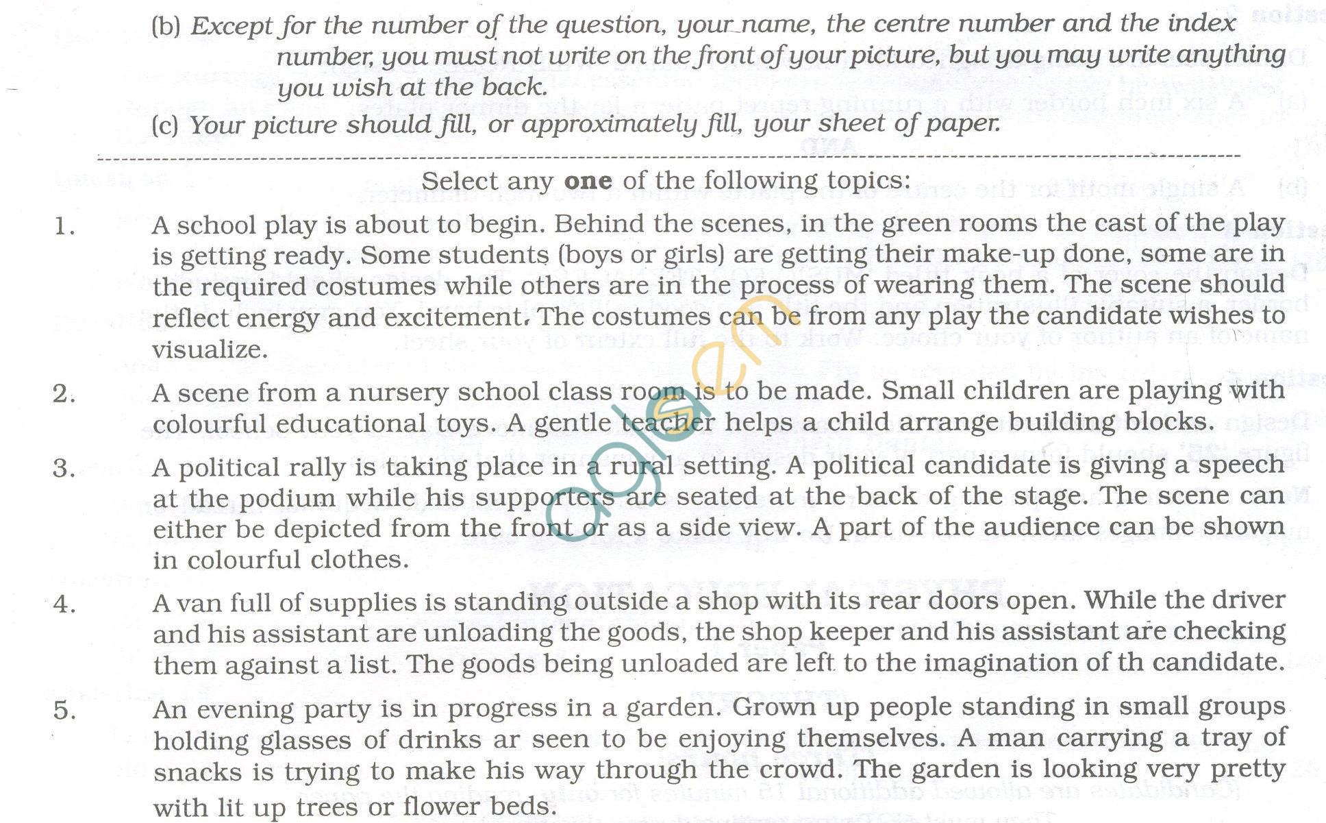 ISC Question Papers 2013 for Class 12 -Arts Paper IV