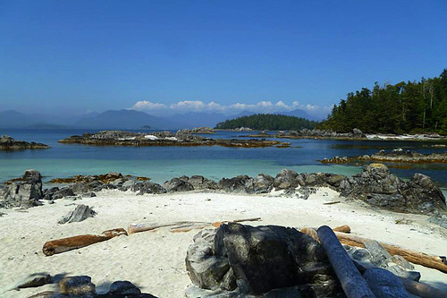 Island 46 and Owens Island, Broken Group Islands, Barkley Sound, Pacific Rim, Vancouver Island, British Columbia, Canada