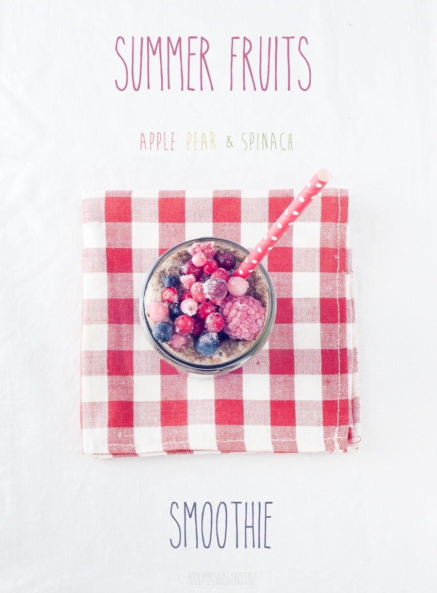 Summer fruits smoothie
