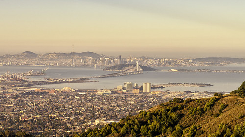 california ca morning urban sunrise landscape oakland bay berkeley san francisco day cityscape view sunny hills clear area vista norcal northern development