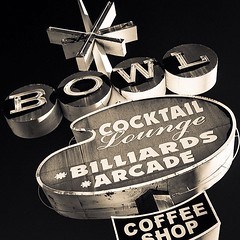 Light striking Surf Bowl #oceanside #bowling #signage