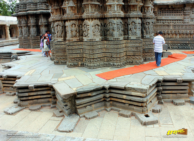 Star shaped platform of Keshava Temple, Somanathapura, Mysore district, Karnataka, India